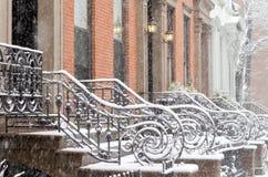 雪在布鲁克林 库存图片