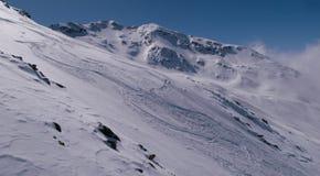 滑雪在意大利 免版税库存照片