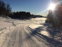 滑雪在挪威 库存照片