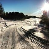 滑雪在挪威 库存图片