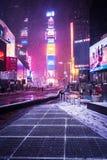 雪在时代广场 库存图片
