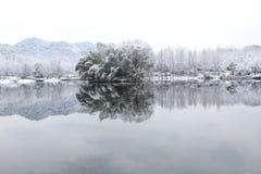 雪在杭州 免版税库存照片