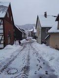 雪在热尔迈 库存图片