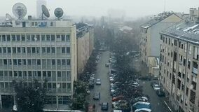雪在萨格勒布,克罗地亚
