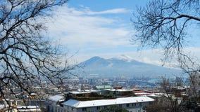 雪在那不勒斯 免版税库存照片
