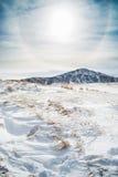 雪在阿苏山 免版税库存图片