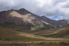 雪在高原03的山风景 免版税图库摄影
