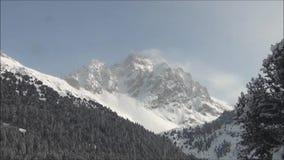滑雪在3个谷 法国的阿尔卑斯 股票录像