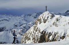 滑雪在Ischgl 库存图片