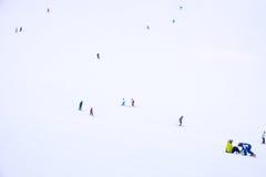 滑雪地区在Niseko 免版税库存照片