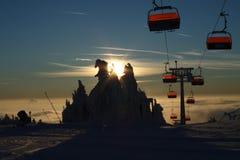 滑雪地区KlÃnovec 库存照片
