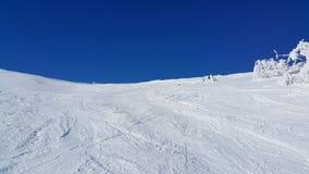 滑雪场面 库存图片
