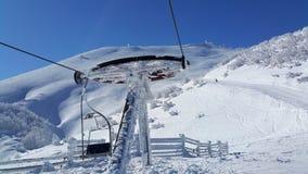 滑雪场面 库存照片