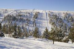 滑雪坡道 库存图片