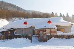 雪城镇 免版税库存图片