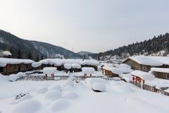 雪城镇 库存图片