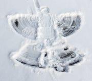 雪天使做了我的小女孩 免版税库存照片