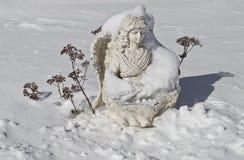 雪天使 免版税图库摄影