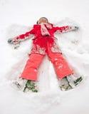 雪天使 图库摄影