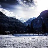 雪天在奥地利 免版税库存照片