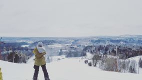 滑雪天 免版税图库摄影