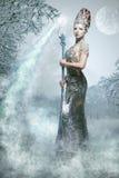 雪女巫 免版税库存图片