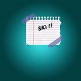 滑雪季节 免版税库存照片