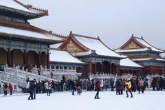雪宫殿 免版税库存图片