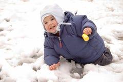 雪小孩 免版税库存图片