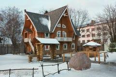 雪少女terem在Kostroma 免版税图库摄影