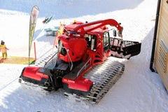 雪履带牵引装置 Nebelhorn山在冬天 阿尔卑斯,德国 免版税库存照片