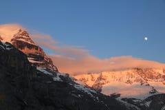 雪山在瑞士 库存图片