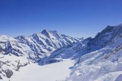 雪山在阿尔卑斯 免版税库存照片