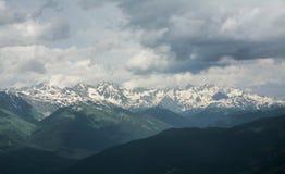 雪山山脉风景 库存图片