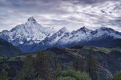 雪山峰 库存照片