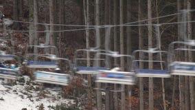 滑雪山推力体育 影视素材