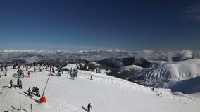 雪山斯洛伐克滑雪冬天Jasna欧罗巴 股票录像