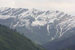 雪山景城 库存图片
