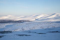 雪山风景下午 库存照片