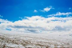 雪山 免版税库存照片