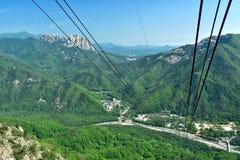 雪岳山国立公园美丽如画的看法  免版税库存图片