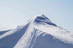 雪峰顶 库存图片