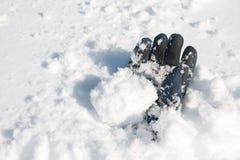 雪崩受害者 库存图片