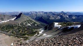 雪崩峰顶,黄石国家公园 库存照片