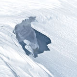 雪崩引起者 库存图片
