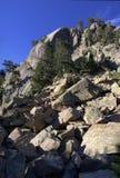 雪崩石头 图库摄影
