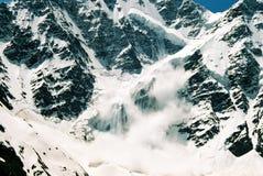 雪崩elbrus mt俄国 库存图片