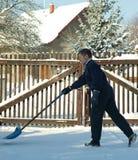 雪工作 库存图片