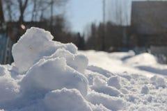 雪开掘 免版税库存照片