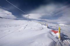 雪形成 穆萨拉峰 免版税库存照片